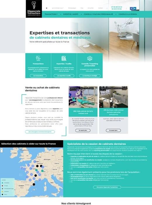 Kagency Nantes a réalisé la refonte du site internet Hippocrate Transactions