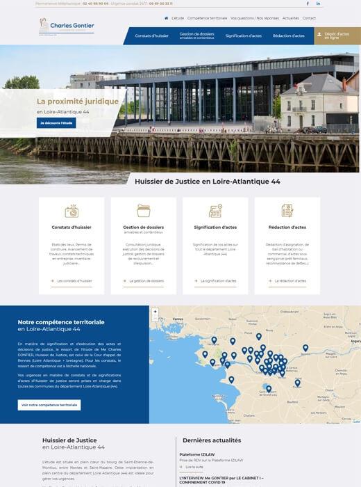 Création du site web et du logo de Charles Gontier Huissier44 par Kagency Nantes