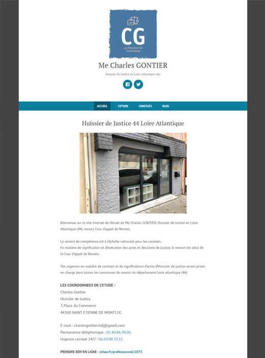 Ancien site internet  Huissier44 avant la refonte par Kagency Nantes