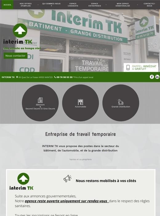 Ancien site web d'Intérim TK Nantes