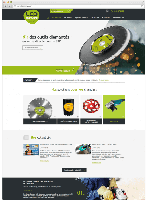 Nouveau site internet grâce à la refonte de LCP Diamant