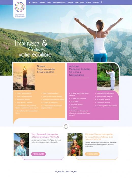 Nouveau site web pour les Ateliers du Bien-être par Kagency Nantes