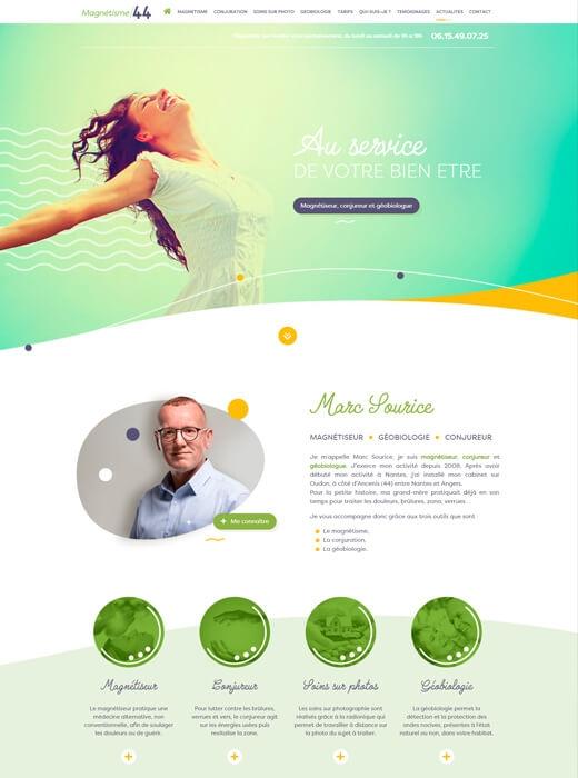 Nouveau site internet pour Marc Sourice - Magnétisme 44 par Kagency