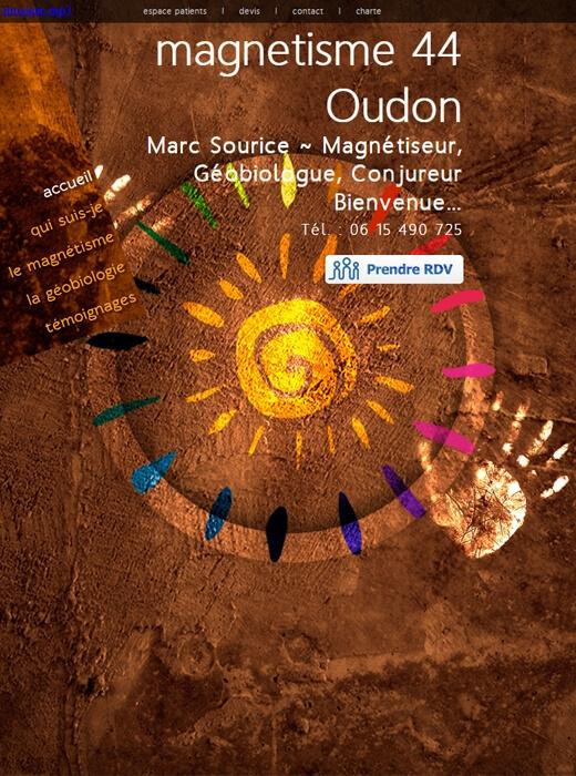 Refonte du site web de Marc Sourice, Magnétisme 44
