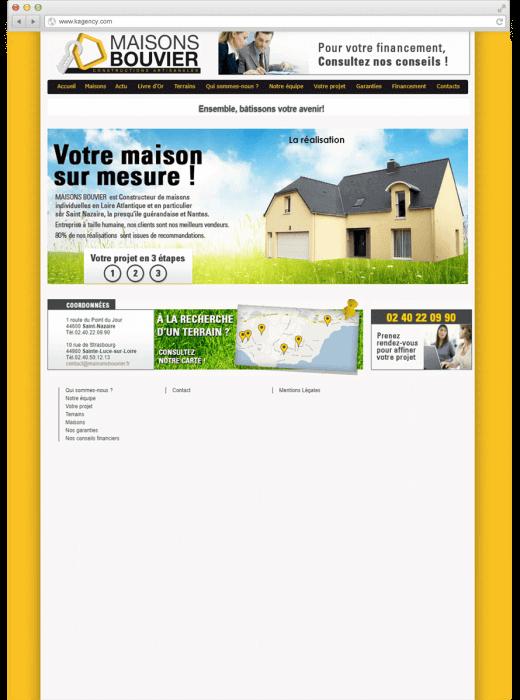 Refonte du site internet des Maisons Bouvier Nantes et St-Nazaire