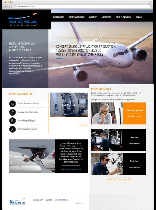 Création de la nouvelle version du site web de MCSA