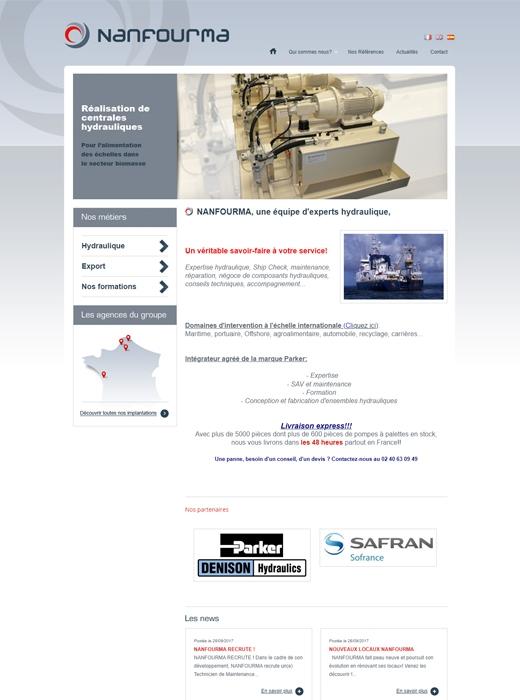 Le site web de Nanfourma avant la création du nouveau site par Kagency Nantes