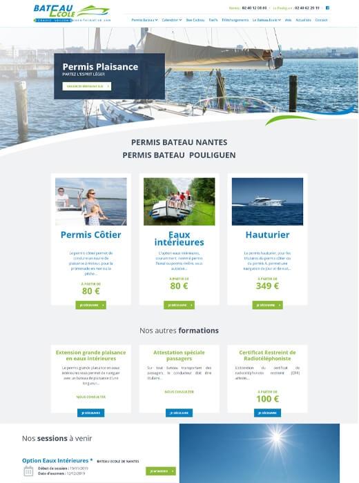 Refonte du site web Océan Formation du Bateau Ecole Cravic Veillon Nantes - Le Pouliguen