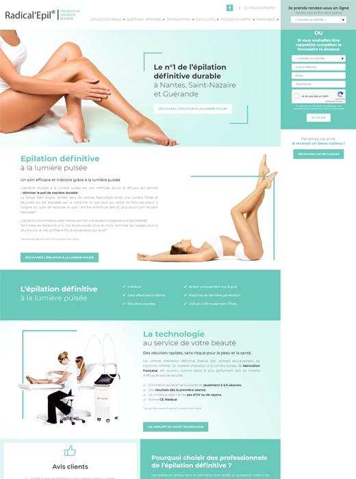 Création du nouveau site web de Radical Epil Nantes par Kagency