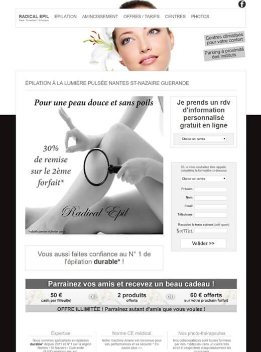 Refonte du site internet de Radical Epil Nantes par Kagency