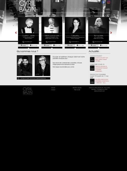 Ancienne version du site internet Cyril Bazin Coiffeur Créateur