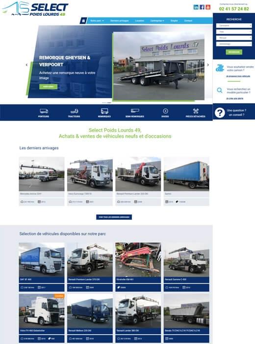 Kagency Nantes a assuré la création du nouveau site web de Select Poids Lourds Angers
