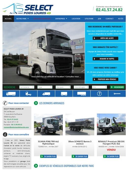 Refonte du site internet de SPL49, Select Poids Lourds Angers par Kagency Nantes