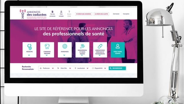 Création du site internet des Annonces des caducées par Kagency Nantes