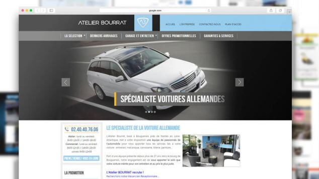 creation site web pour revendeur automobile