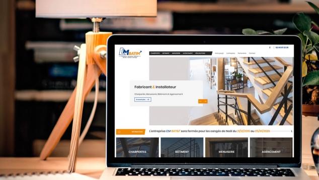 Création du nouveau site web de CM Batim