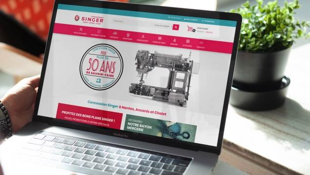 Création du nouveau site e-commerce de la Concession Singer Nantes Ancenis Cholet par Kagency