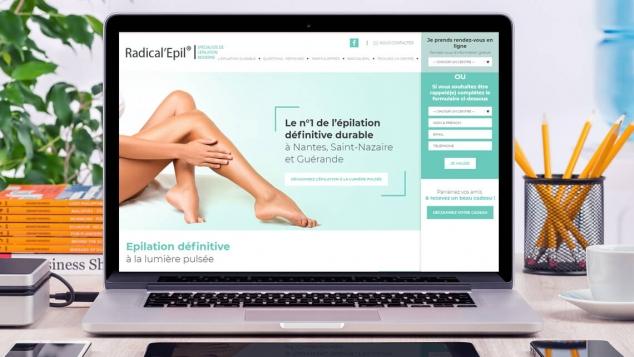 Création du site web de Radical Epil par Kagency Nantes
