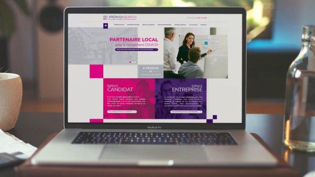 Création du nouveau site web d'Xperhia Search à Nantes par Kagency