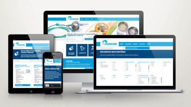 Création du site web d'Auxicom Les Sorinières Nantes par Kagency