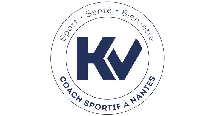 Kagency a réalisé le logotype de KV Coach Sportif à Nantes
