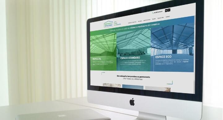 Le site internet B to B d'ESPACE STOCKAGE Nantes par Kagency