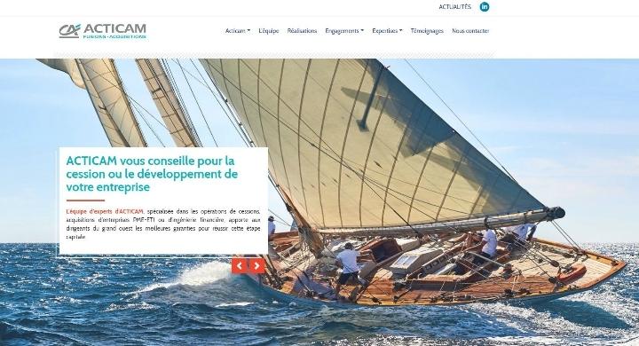 Kagency réalise des évolutions sur le site web d'Acticam, Fusions-Acquisitions à Nantes