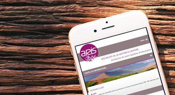 Kagency Nantes réalise le site web d'Aris en responsive design