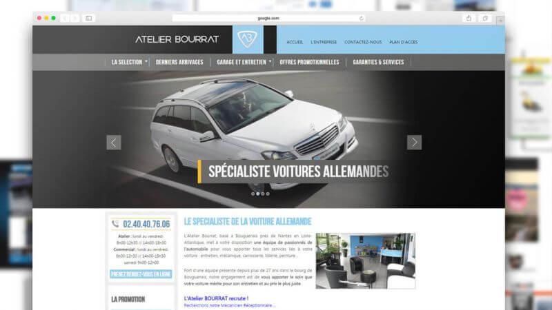 Kagency réalise le site web de l'Atelier Bourrat de Bouguenais près de Nantes