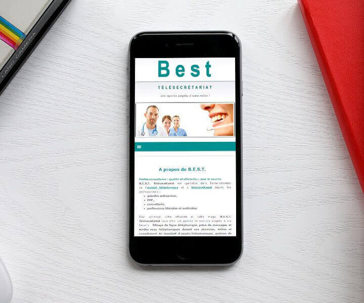 Best Télésecrétariat compatible mobile avec le Responsive Design réalisé par Kagency Nantes