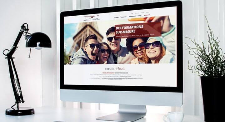 Nouvelle version du site internet du Cabinet Amplitude Nantes par Kagency