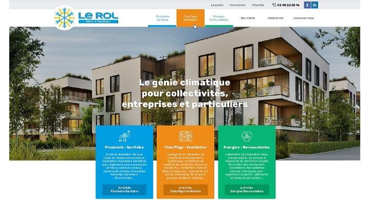 Kagency Nantes réalise le site web de LE ROL Génie Climatique à Saint-Nazaire