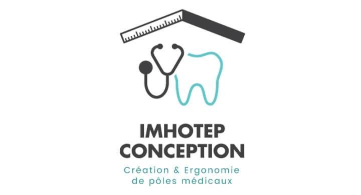 Création du logo d'Imhotep Conception par Kagency Nantes