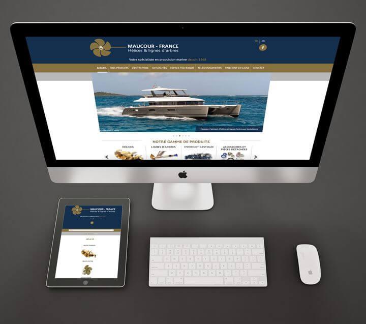Refonte de site web pour Maucour France avec Kagency