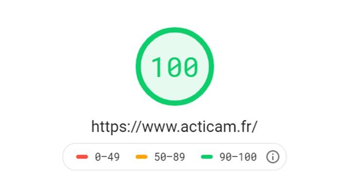 Optimisation Desktop du site web Acticam avec Page Speed Insight