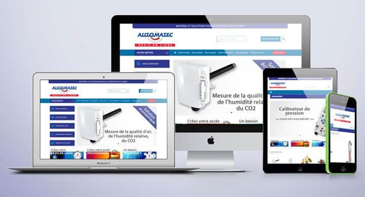 Kagency a mis en ligne le  site Ouest Fluide Contrôle by Automatec Nantes - Caen