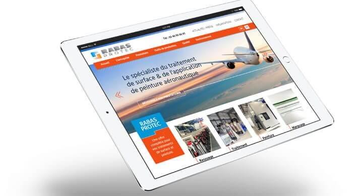 Intégration HTML & CSS du site web de Rabas Protec - Saint-Nazaire par Kagency