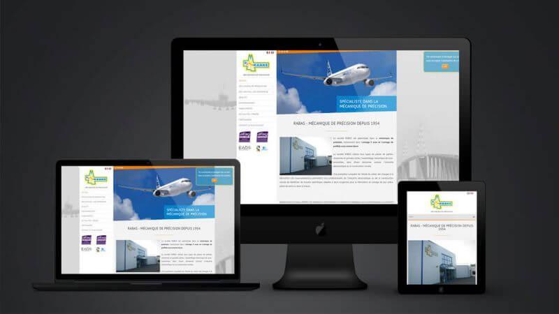 Kagency a réalisé le site web responsive de la société Rabas à Saint-Nazaire