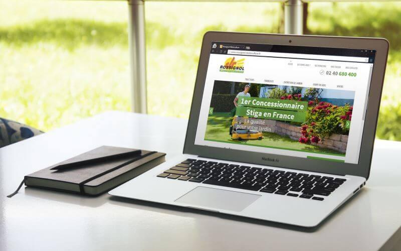 Refonte de site web pour Rossignol Motoculture Nantes avec Kagency