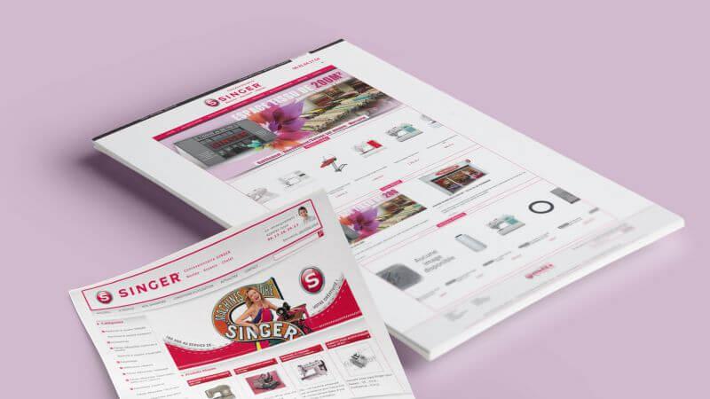 Nouveau site e-commerce PrestaShop pour les  concessions SINGER de Nantes, Ancenis et Cholet