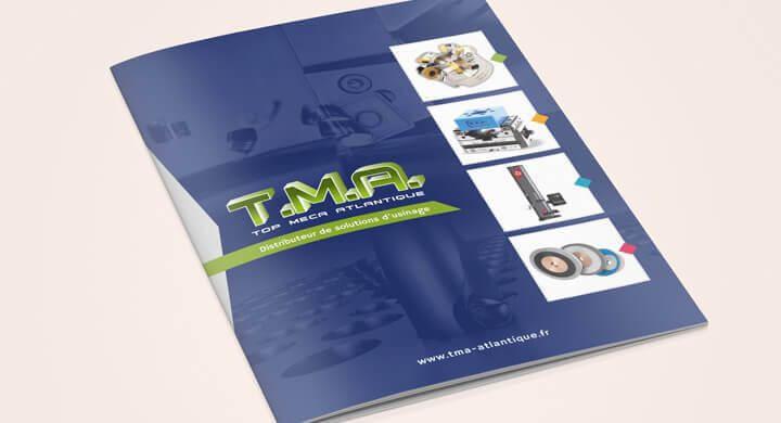 Réalisation d'une brochure 20 pages pour TMA à Vigneux de Bretagne par Kagency