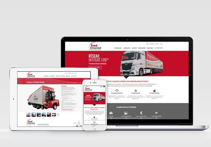 Nouveau site web en responsive web design pour Tred Chariot