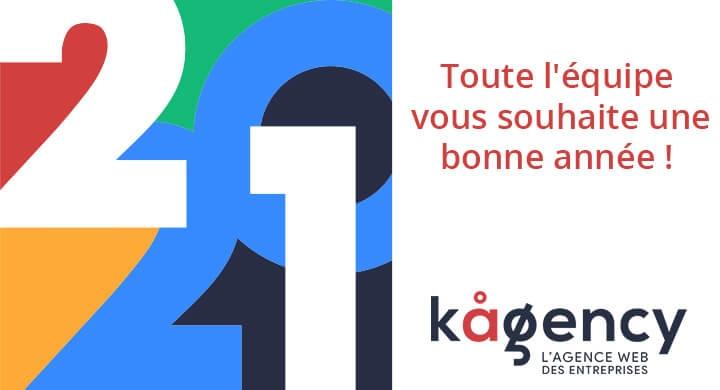 Bonne année de la part de Kagency, agence web à Nantes
