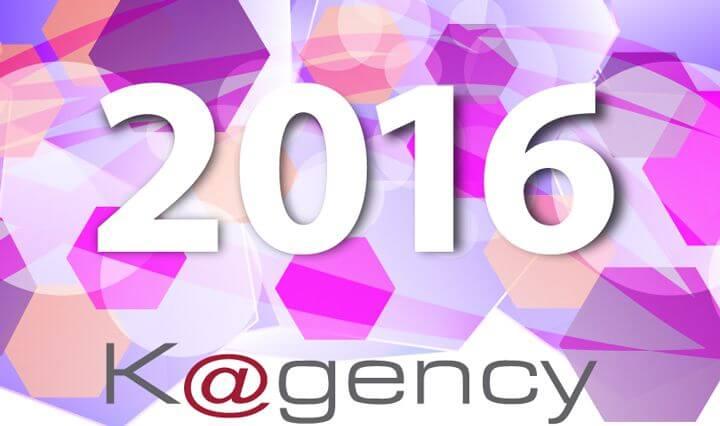 Bonne Année 2016 de la part de l'équipe de Kagency.